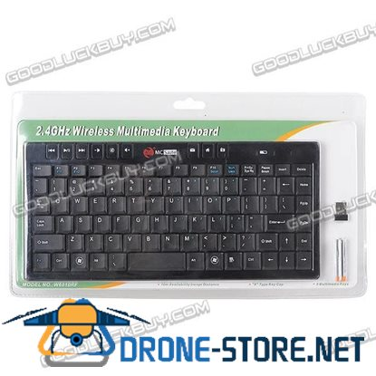 2.4G Wireless 87 Keys Keyboard with 9 Multimedia Keys for PC Laptop