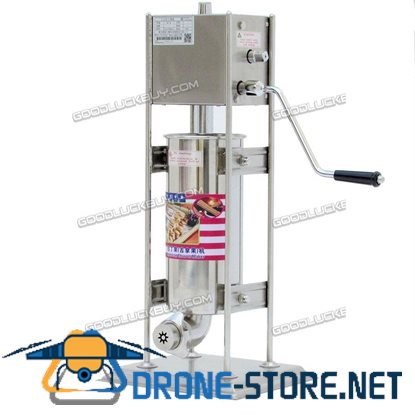 10L 2 In1 Stainless Steel Manual Churros Making Machine Sausage Stuffer for Home & Commercial Use