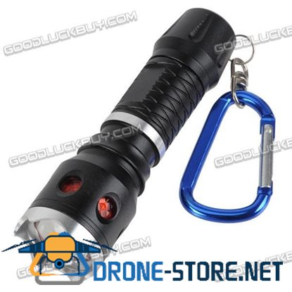 704 1W Cree LED Flashlight 1xAAA battery Flashlight Torch with Keychain