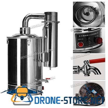 10L Medical Home Pure Water Electric Stainless Distiller Moonshine Still + Water Control