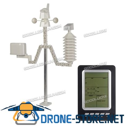 Professional Wind Home Weather Station Wireless Solar LCD Temperature Forecast