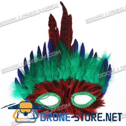2 x MARDI GRAS Ball & Party Costume Masquerade Feather Mask for Kids