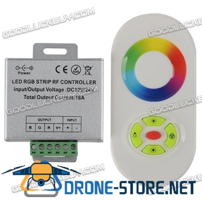 12-24V RF Remote Touch Rainbow Controller 18A~216W RGB LED-White