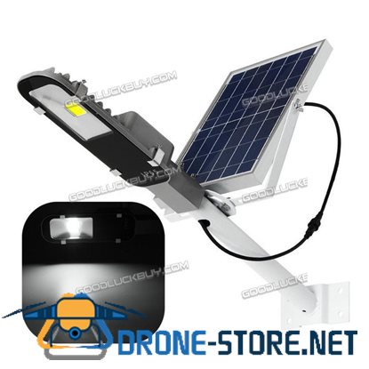 12W Waterproof Solar Power COB LED Street Road Light Sensor Outdoor Garden