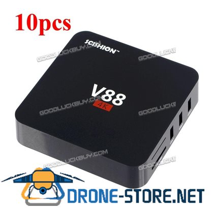 10X V88 Android 5.1 Rockchip3229 Quad-Core 1GB/8GB Smart TV Box WiFi HDMI 4K Set-top Box