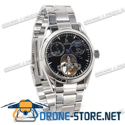 Stainless Steel Automatic Mechanical Men Wrist Watch IK Colouring 98080