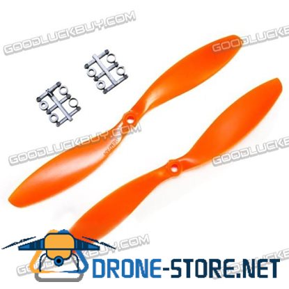 "GEMFAN 9x4.7"" 9047 9047R CW CCW Propeller Orange For MultiCopter 2 Pairs"