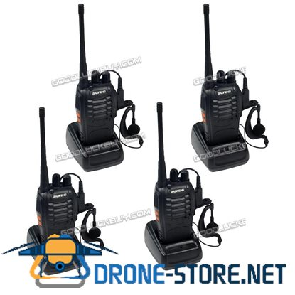 4X Baofeng Walkie Talkie UHF 400-470MHZ 2-Way Radio 16CH BF-888S Long Range 5W