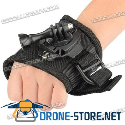 360 Degree Swivel Glove Style Wrist Hand Palm Band Strap Mount S for GoPro Hero 3 3+ 4