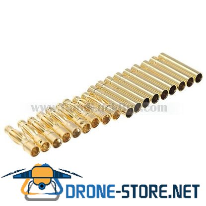 10 pairs 4.0mm Gold Bullet Connector Plug RC battery