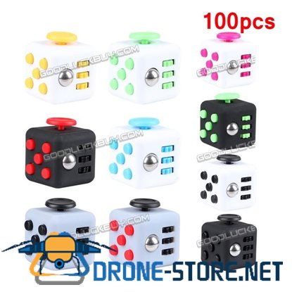 100PCS Magic Fidget Cube Anxiety Stress Relief Focus 6-side Gift for Adults Kids