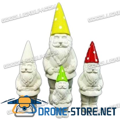 Christmas Holiday Decoration Ceramic Santa Claus 4-Pack
