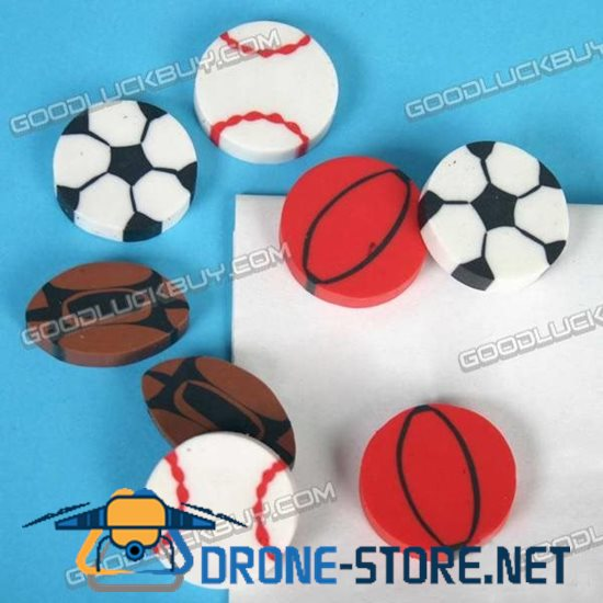 Colorful Sports Ball Eraser Rubber Toy Gift 1 Pack of 12