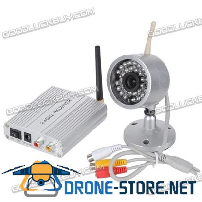 2.4G Wired/Wireless Camera 30 LED IR Night Vision Color Waterproof Camera+2.4G Receiver