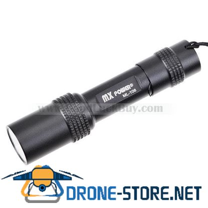 MXDL 3W LED Compact Flashlight with Clip (AAA)