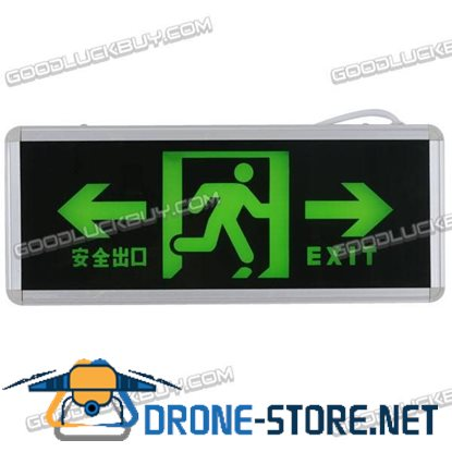 Green LED Emergency Exit Sign LED Compact Dual Circuit Security
