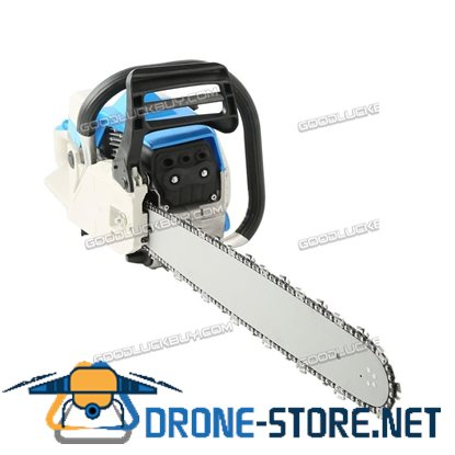 "20"" Bar Gas Chainsaw 58cc Chain Saw Cutting Wood 2 Cycle Engine Gasoline Blue"