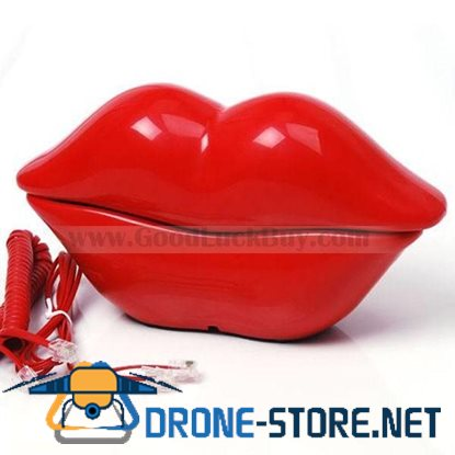 Novelty Kiss Lip Home Telephone Cord Phone Red