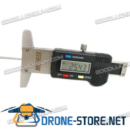0~50mm Digital Tyre Tire Veins Tread Depth Deep Gauge Caliper