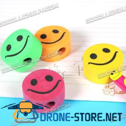 Colorful Smile Face Eraser Rubber Toy Gift 1 Pack of 4