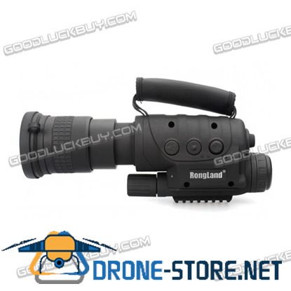Rongland NV-760D+ Infrared Night Vision IR Monocular Telescopes 7x60 DVR Record
