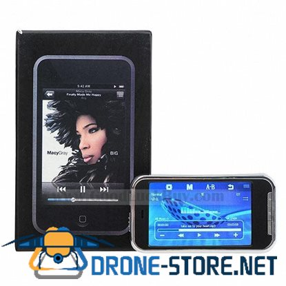 """3.0"""" Touch Screen MP3/MP4/AVI/RM/RMVB """"MP5"""" Video Player with Loudspeaker and FM (4GB Internal + TF)"""