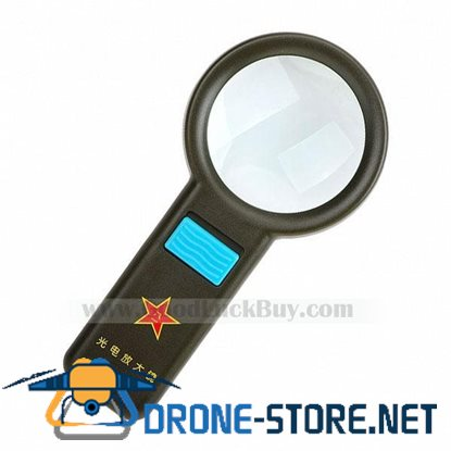 10 LED Pocket Reading Magnifier Magnifying Glass NEW