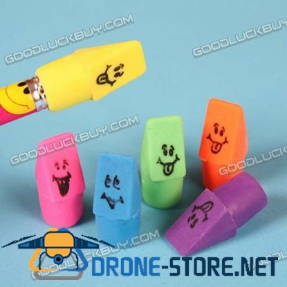 Colorful Clown Smile Face  Eraser Rubber Toy Gift 1 Pack of 12