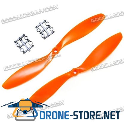 "GEMFAN 11x4.7"" 1147 1147R CW CCW Propeller Orange For MultiCopter 2 Pairs"