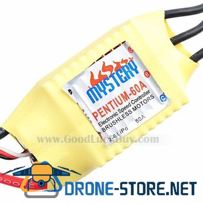 Mystery 60A Out-BEC Brushless Motors Speed Controller ESC Yellow