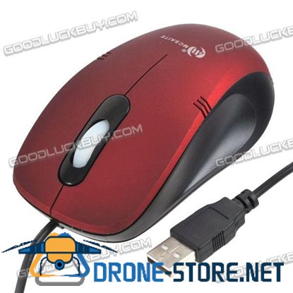 MC Saite Optical Mouse For Computer and Laptop Notebook Red