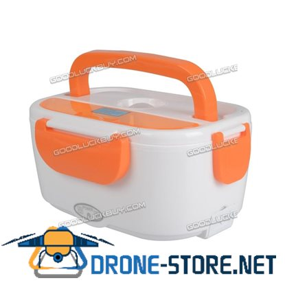 1.5L Portable Electric Heated Lunch Box Food Storage Warmer Container Orange
