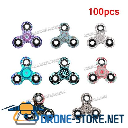 100X Lot Fidget Hand Tri Spinner Stress Reducer Desk Toy Finger Focus