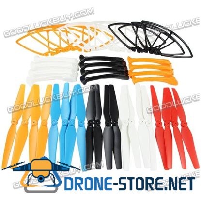 SYMA Propeller + Props Bumper Protector + Landing Gear for X8C X8W 1 Set Blue