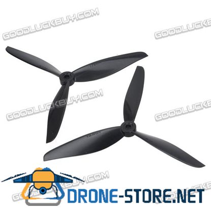 Tarot 7 inch Plastic 3-Blade Propeller Props CW/CCW for FPV Multicopter 1 Pair Black TL300E16