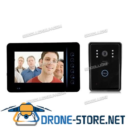 "Wireless Wifi Remote Video Camera Doorbell Door Bell w/ 7"" Monitor for Home Security"