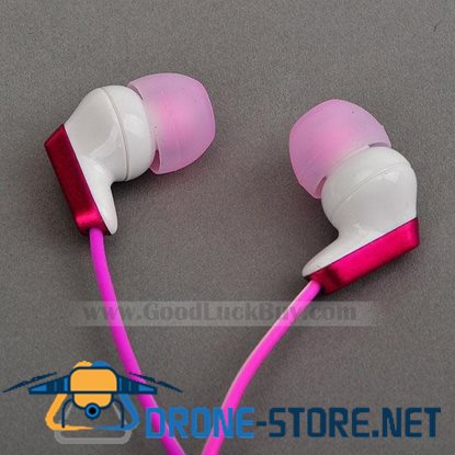 In-Ear Stereo Headphones Earphone for PC Laptop MP3 3.5mm Magenta