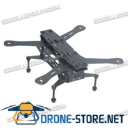 ATG250 250mm Carbon Fiber 4 Axis Mini Quadcopter Frame Aluminum Pillar Landing Skid Gear