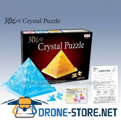3D Crystal Furnish Pyramid Jigsaw Puzzle IQ Gadget Games 2color