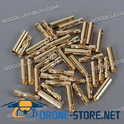 40 * Gold Plated Banana Connectors for R/C Model Batteries (20*Male + 20*Female)