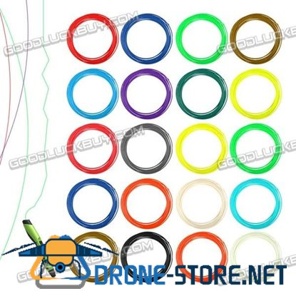 20 Colors 5M/Per 1.75mm Printing Filament ABS Modeling for 3D Printer Pen Drawing