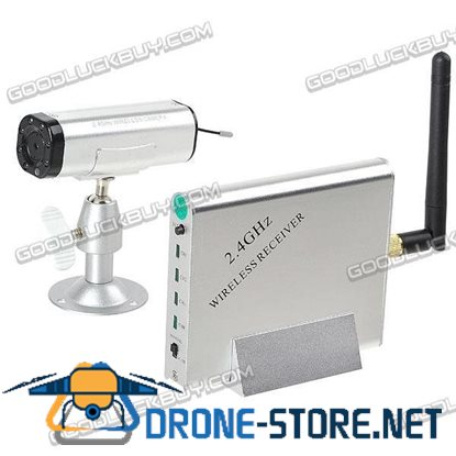 2.4GHz Wireless CCTV NTSC Camera + Receiver Security System KY-2.4GR02+C-501