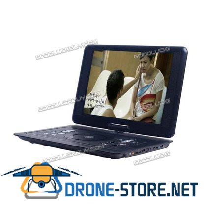 "18.8"" LCD Screen Mini Portable DVD EVD Player SD USB FM Game 270 Degree Swivel"