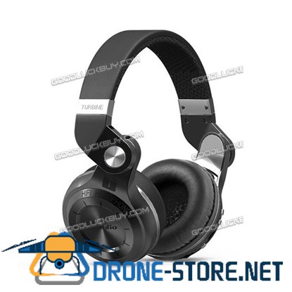 Bluedio Bluetooth 4.1 Stereo Headsets T2 Plus Wireless Headphones w/ Micro-SD Slot Black