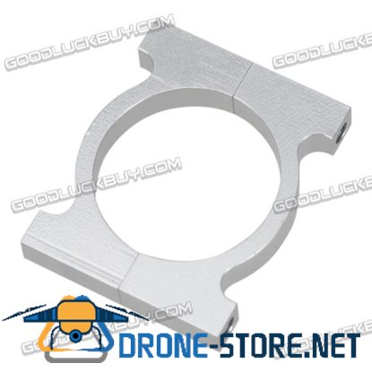 25mm CNC Aluminum Tube Clip Clamp for FPV Multicopter Silver