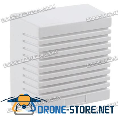 12V Outdoor Alarm Siren Security Alarm Square Shape-White