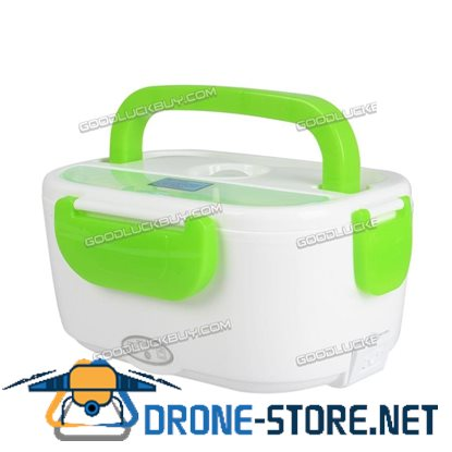 1.5L Portable Electric Heated Lunch Box Food Storage Warmer Container Green