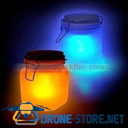 SUN JAR Solar Sunshine Tank Night Light Lamp Double Colors