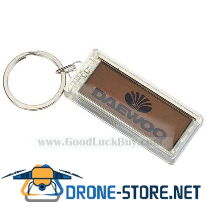 DAEWOO Solar Powered LCD Flashing Key Chain Keyring