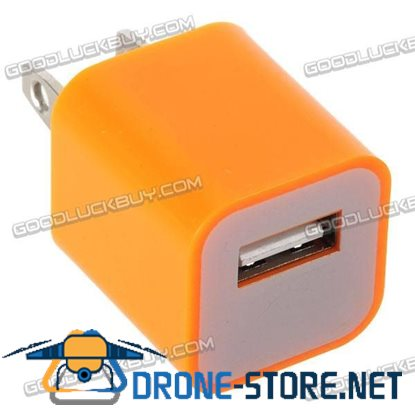 100-240V 1A 3G Power Adapter Plug Travel Adapter with USB Port-Orange
